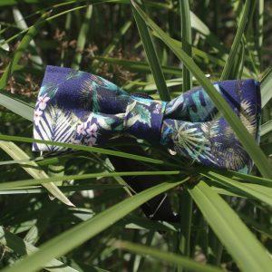 Noeud papillon accessoire mode fait main multicolor motif fleurs