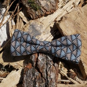 Noeud papillon accessoire mode fait main multicolor motifs géométriques