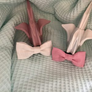 Noeud papillon accessoire mode fait main unis rose foncé ou vieux rose