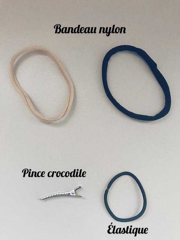 Bandeaux en nylon, élastiques et pinces accessoires cheveux - Accessoires et moi